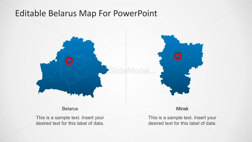 PowerPoint Map of Belarus and Minks