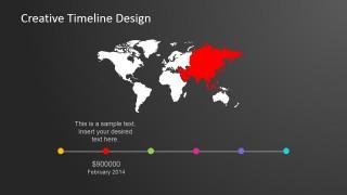 Multinational Timeline PowerPoint Slide