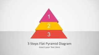 Flat PowerPoint Diagram with 3 Steps