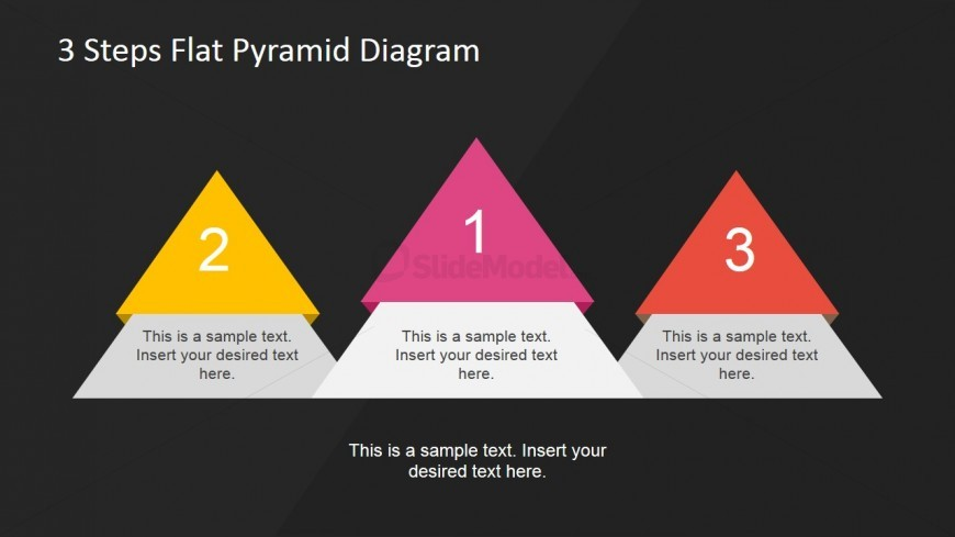 Flat Pyramid Diagrams Podium with Black Background