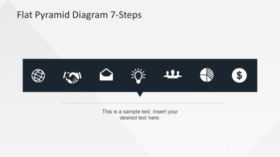 7 Step Infographic Icons Slide