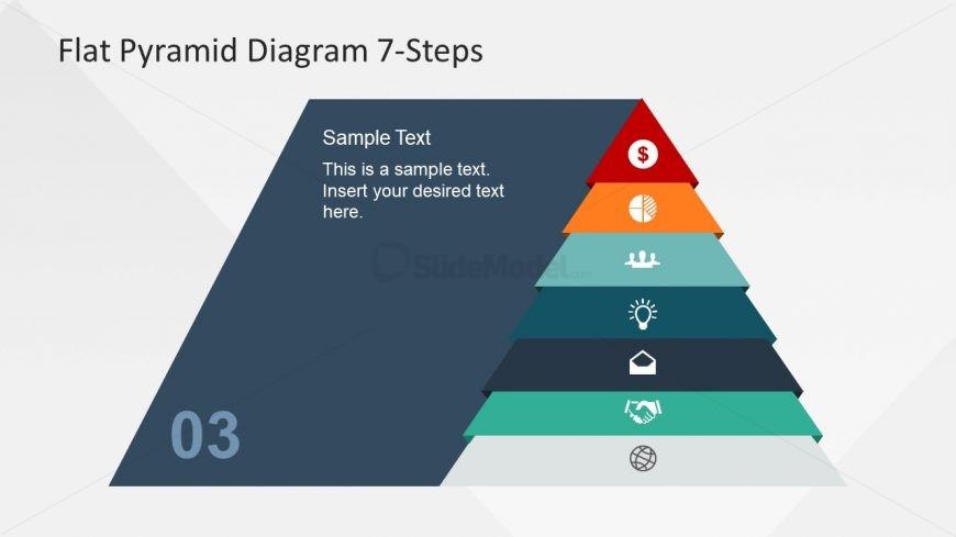 ppt flat 7 steps pyramid slidemodel