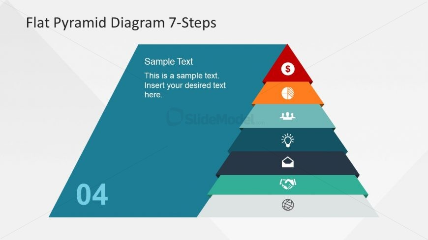 Hierarchy Structure of Pyramid Diagram Slide