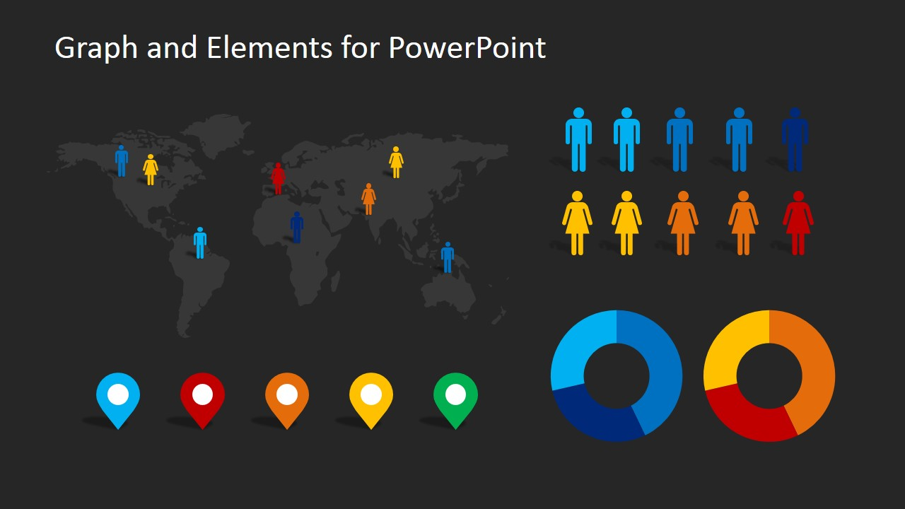 demographics infographic elements clipart for powerpoint
