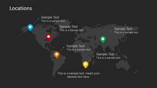 World Map Location PowerPoint Template