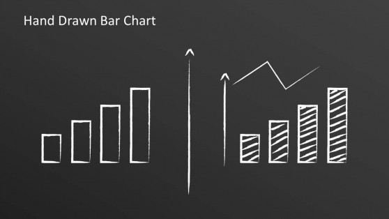 Two Hand Drawn Bar Charts & Line Chart