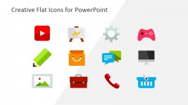 Modern Flat Business Icons for PowerPoint Templates