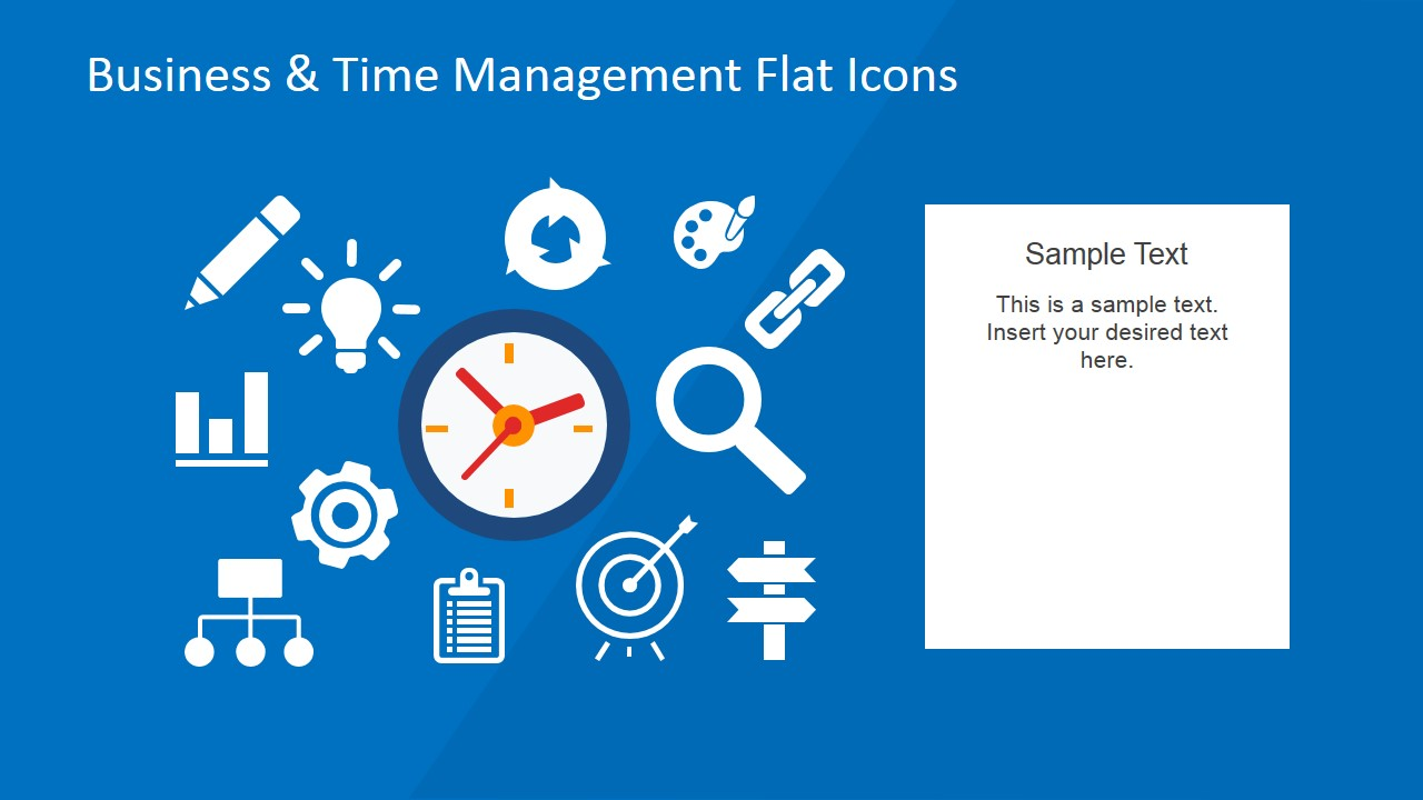 Business & Time Management PowerPoint Flat Icons