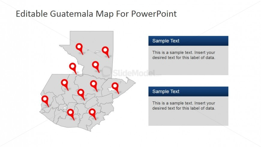 Guatemala Geographical Borders PowerPoint Template