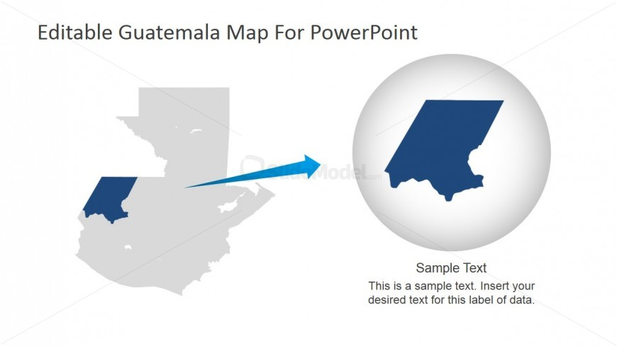 Guatemala Business Location PowerPoint Template