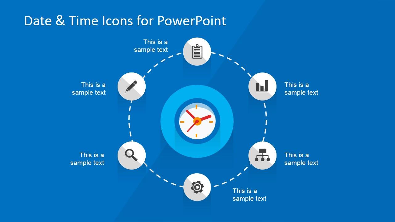 Circular Date & Time PowerPoint Diagram