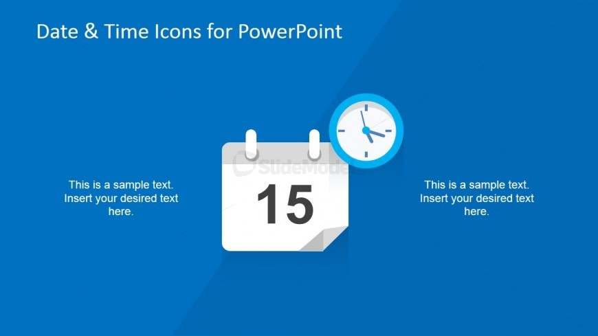 Event Planner Icon for PowerPoint & Clock