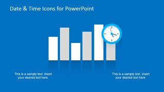 2D Bar Chart Flat Style Slide & Time for PowerPoint