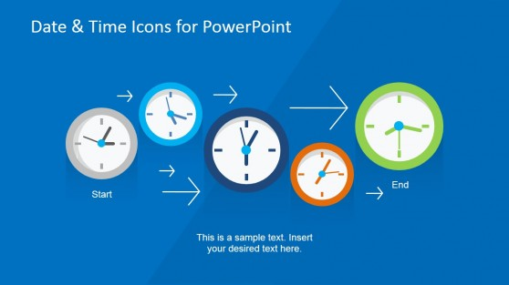 Time & Date PowerPoint Template Process Flow