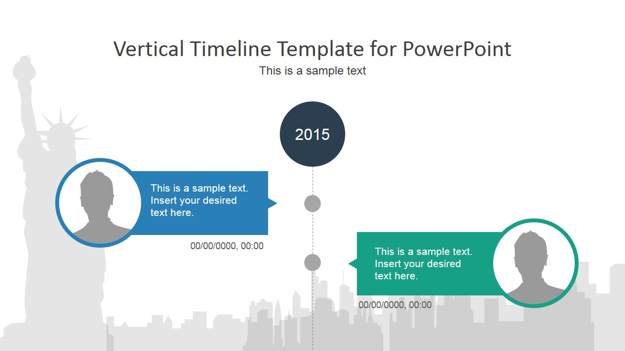 Vertical Timeline PowerPoint Template SlideModel - Timeline roadmap template