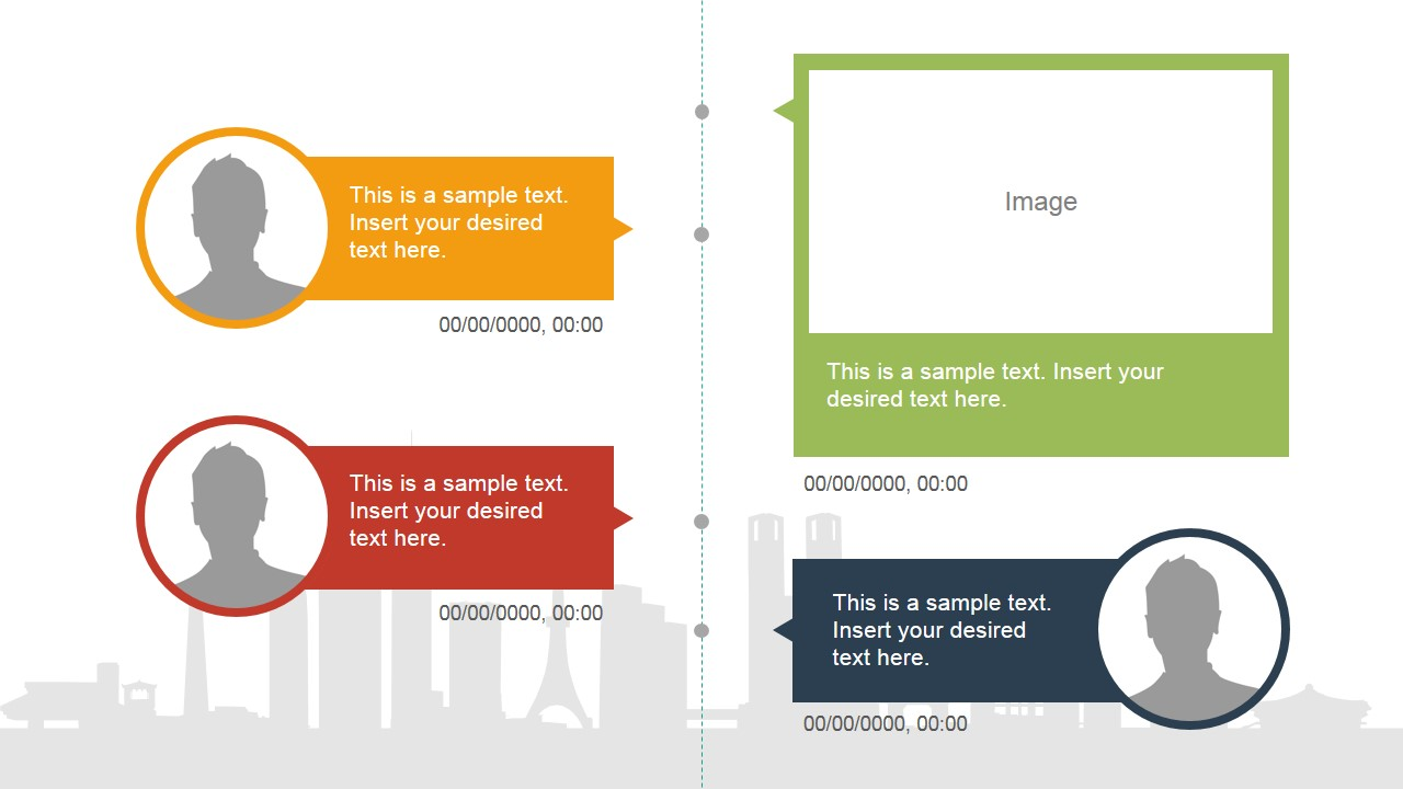 vertical timeline slide design  u0026 placeholder