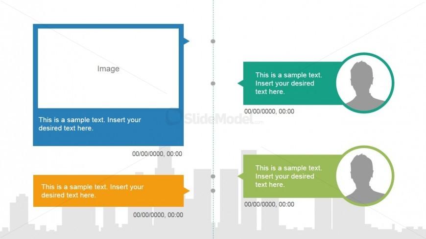 Picture Placeholder Timeline Slide Design