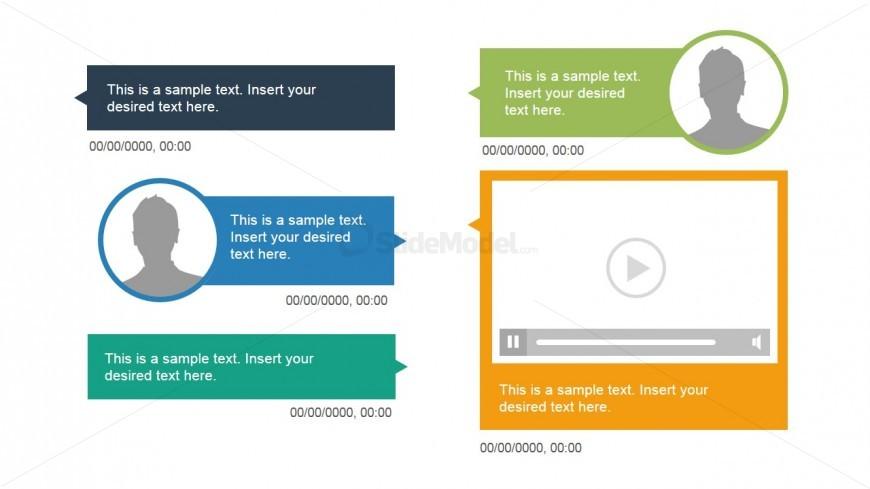 Timeline Presentation Template Slide
