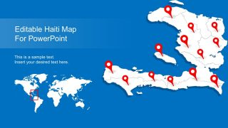 Editable Haiti Map with States