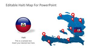 Editable Haiti Map PowerPoitn Shapes
