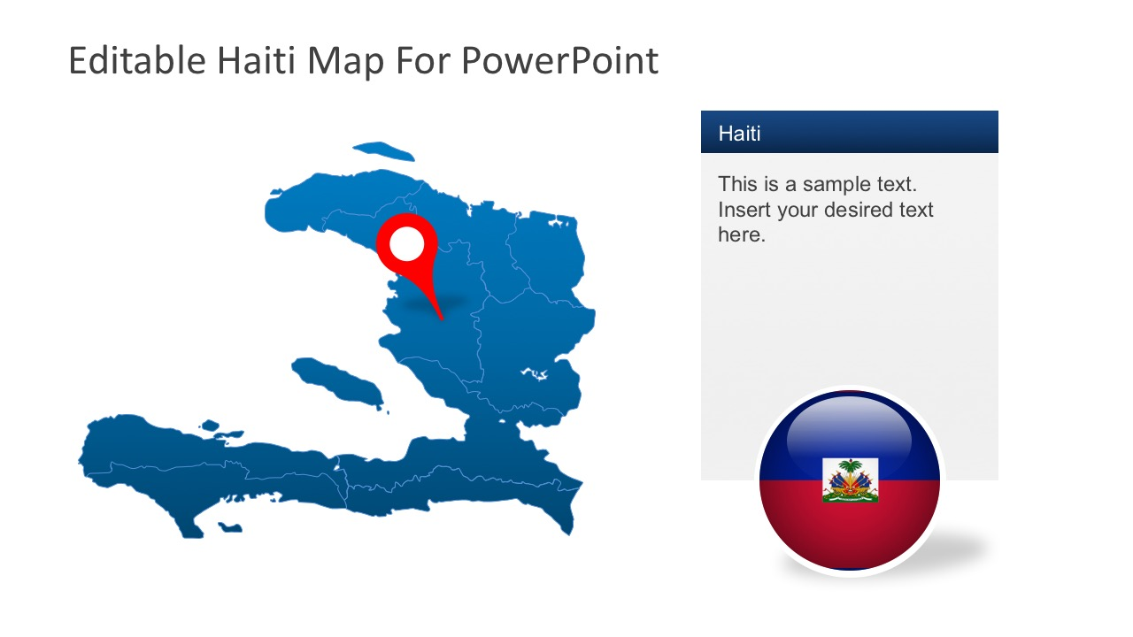 Haiti with Area Locator Vectors for PowerPoint