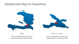 Haiti Outline PowerPoint Map with Capital City