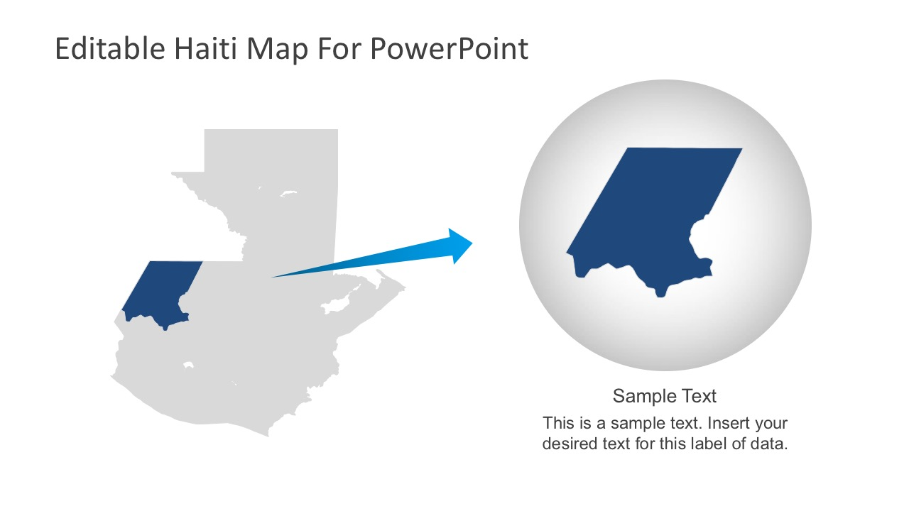 Editable Blank Map of Haiti for PowerPoint