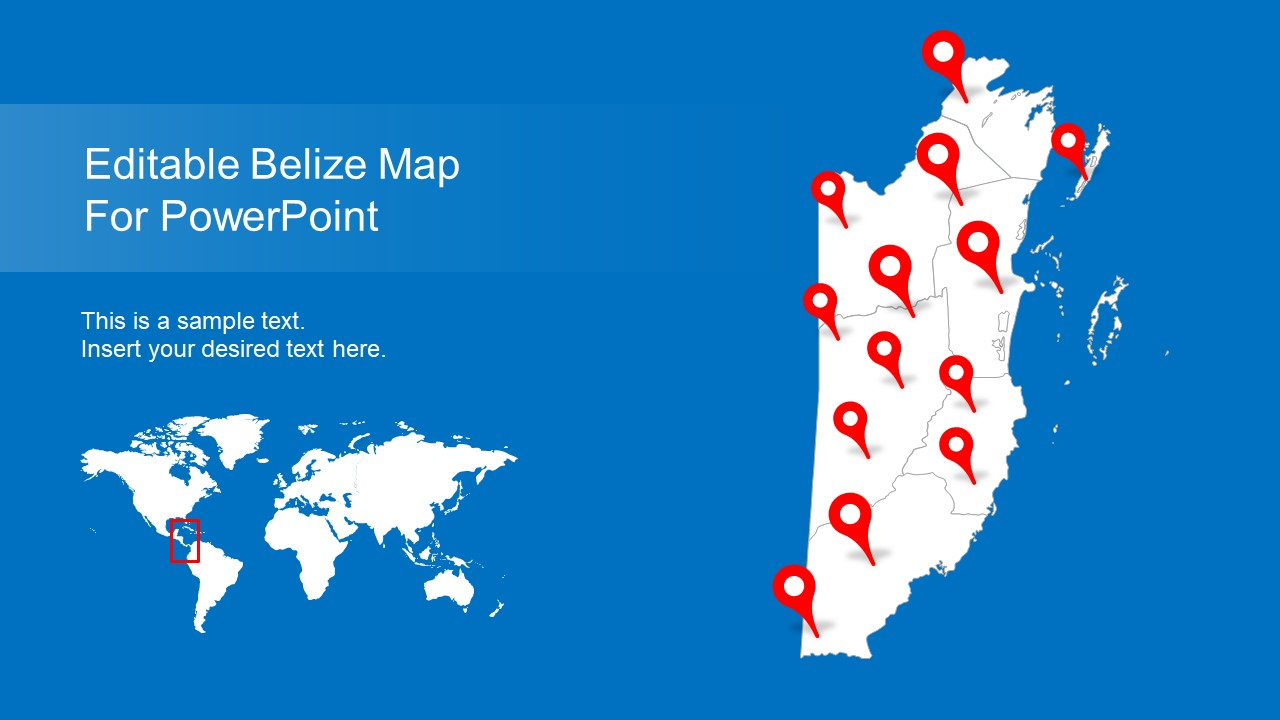 Belize PowerPoint and World Map