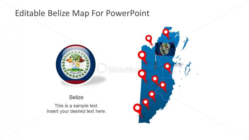 Template Design of Belize Map