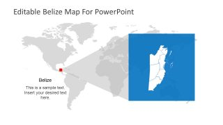 Editable Map of World and Belize
