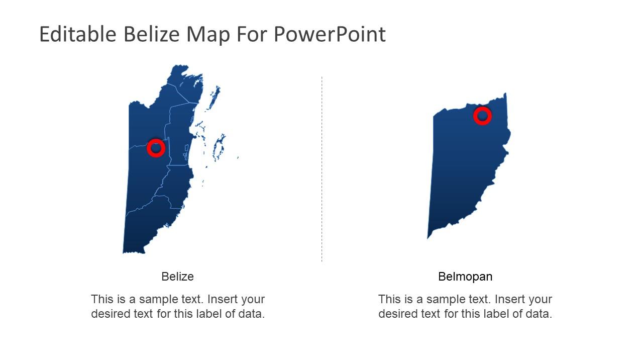 PowerPoint Belize Map Design