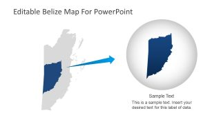 PowerPoint Belize Map Design