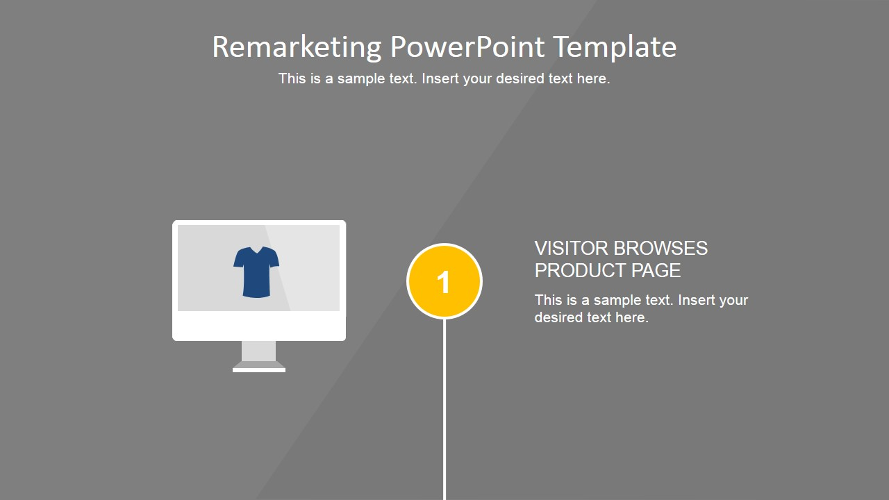 flat remarketing powerpoint template