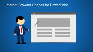 Web Browser & Mike Presenter Clipart for PowerPoint