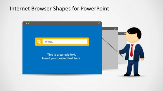 Web Browser & Mike Presenter Illustration for PowerPoint