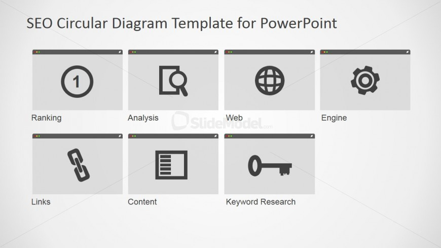 SEO Icons Clipart for PowerPoint Slides