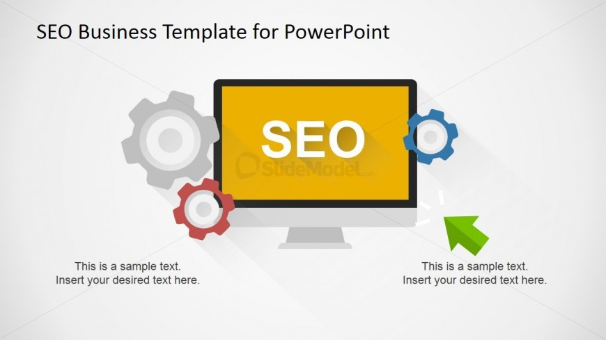 SEO Business Slide Design for PowerPoint & Gear Shapes
