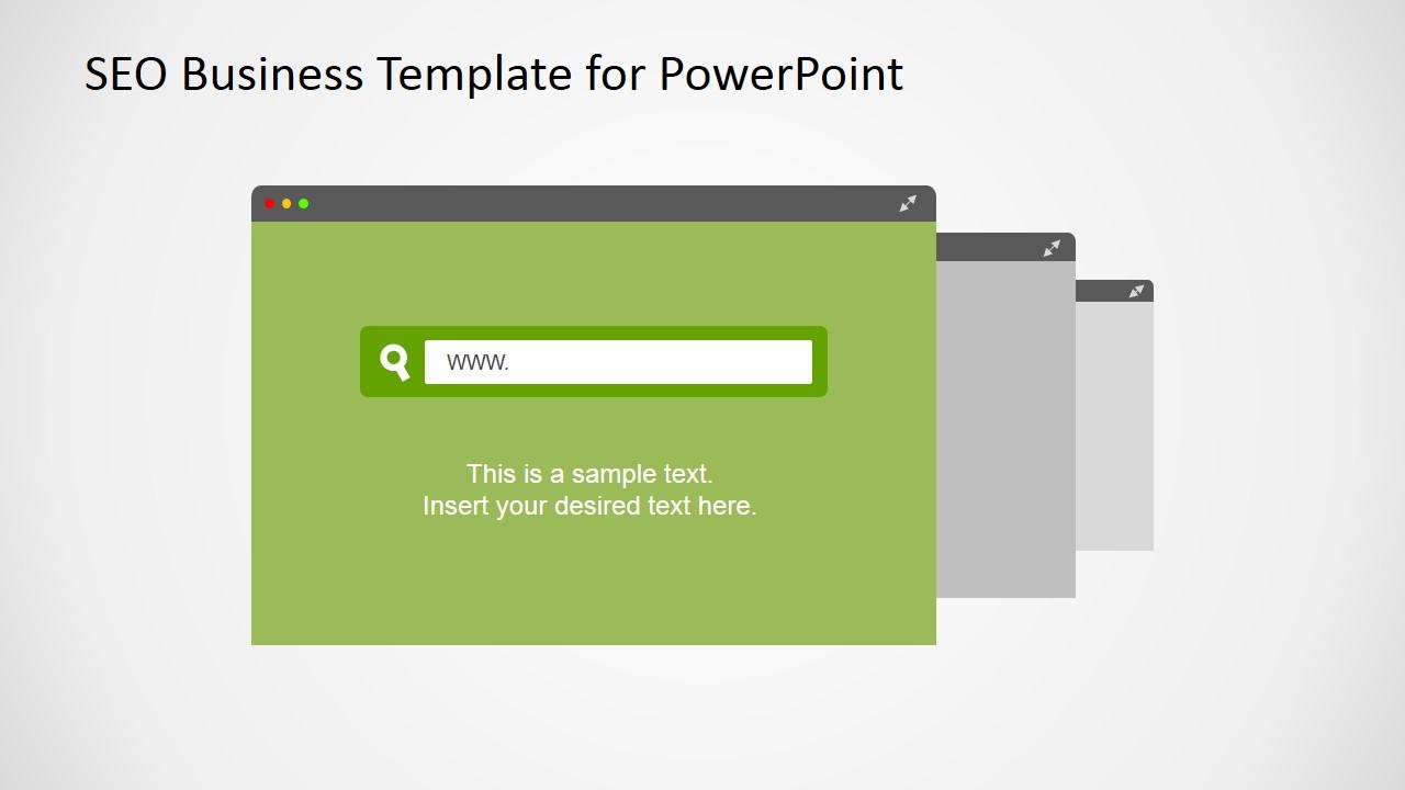 flat seo powerpoint template