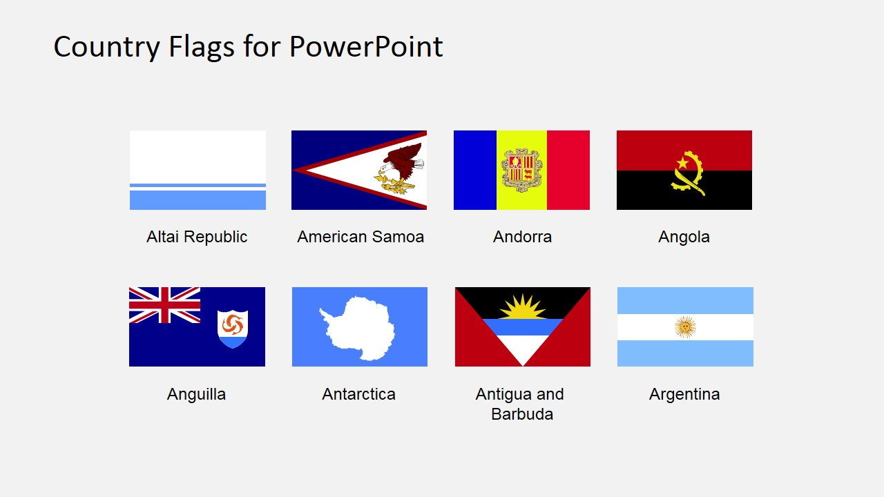 Country Flags Clipart for PowerPoint (A to B) - SlideModel