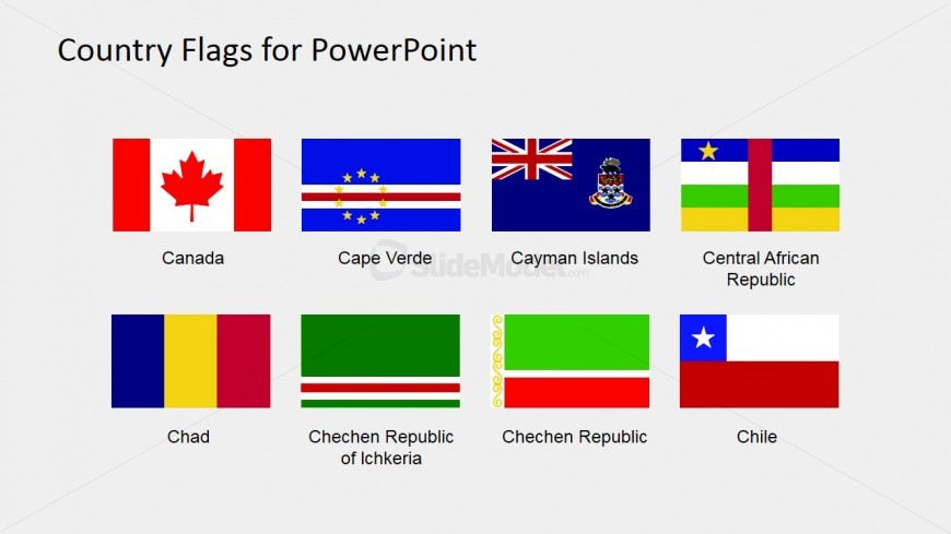 Flags for Maps PowerPoint Template