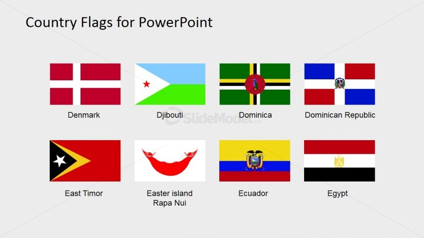 World Flags PowerPoint Slide