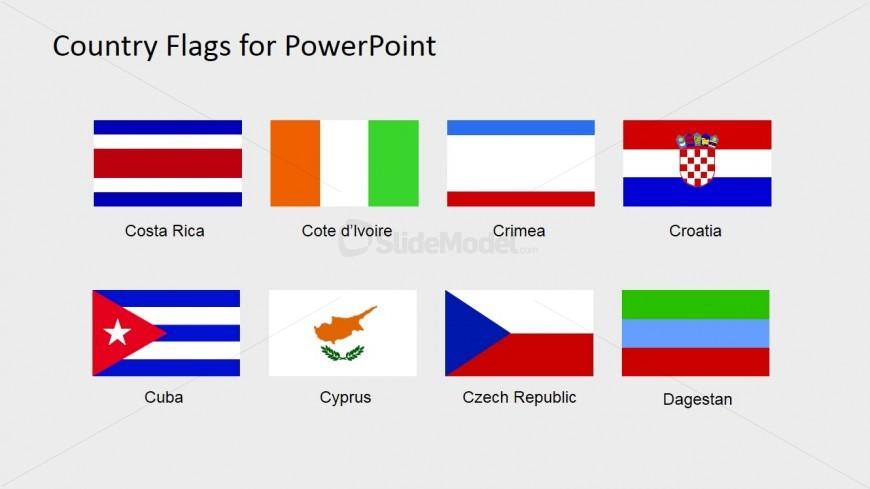 Flag for Maps PowerPoint Slide