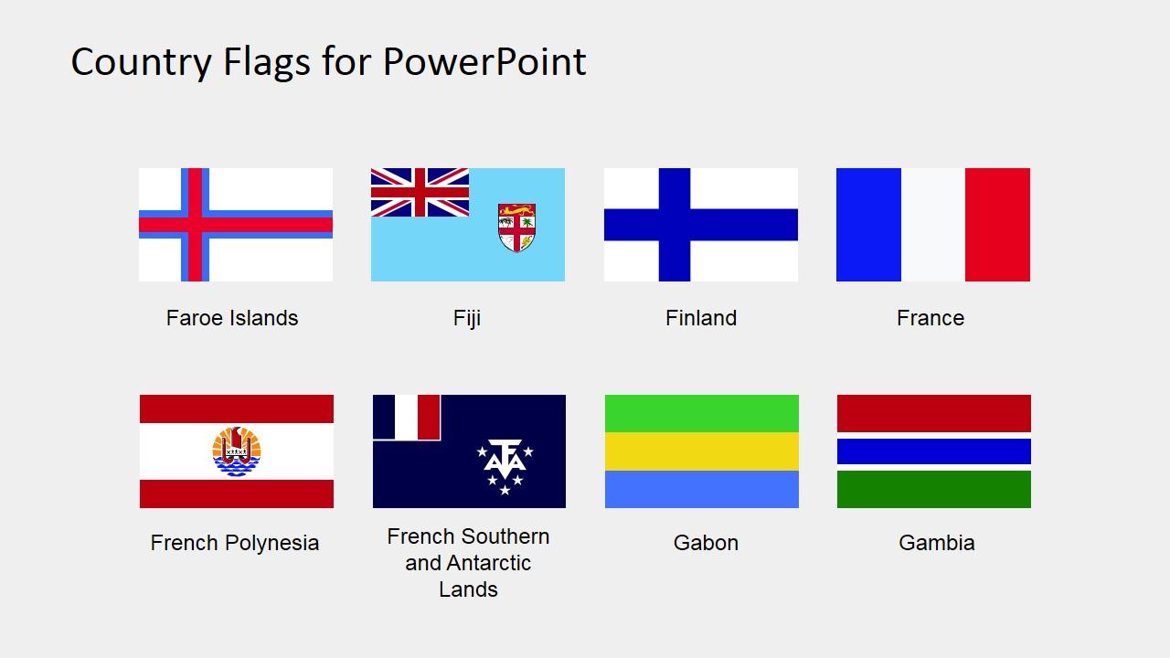 PowerPoint Editable Flags