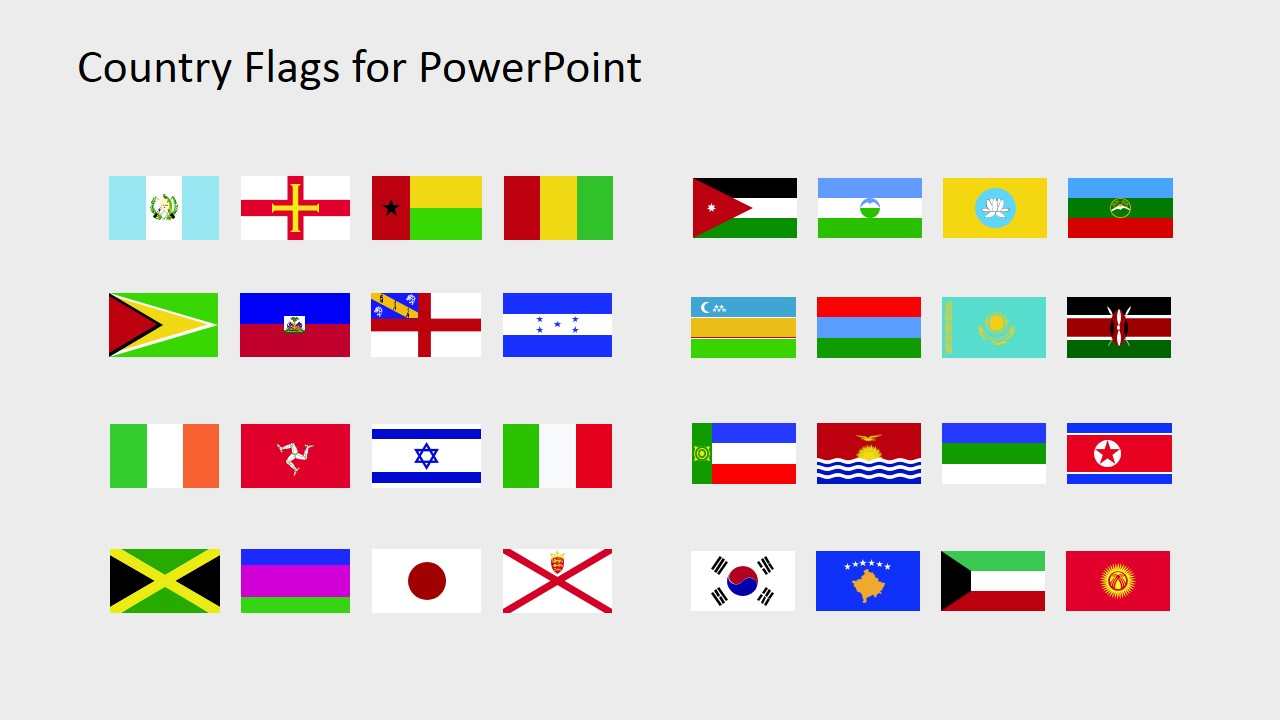 Shapes of Flags for PowerPoint