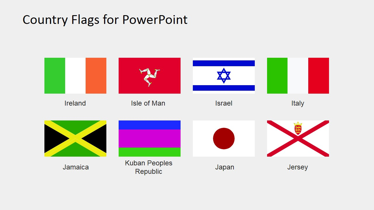 Flags Shapes for PowerPoint