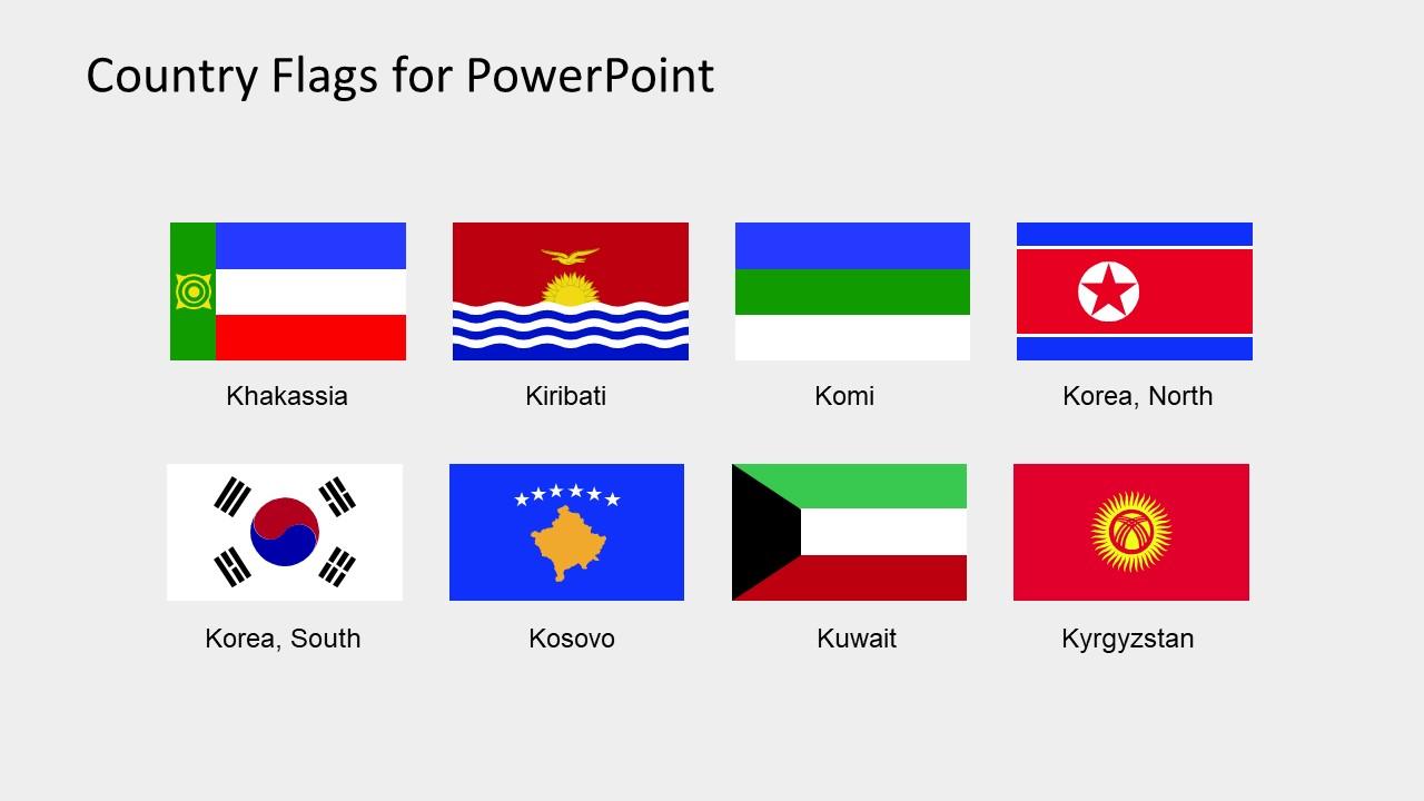 Editable PowerPoint Flag Icons