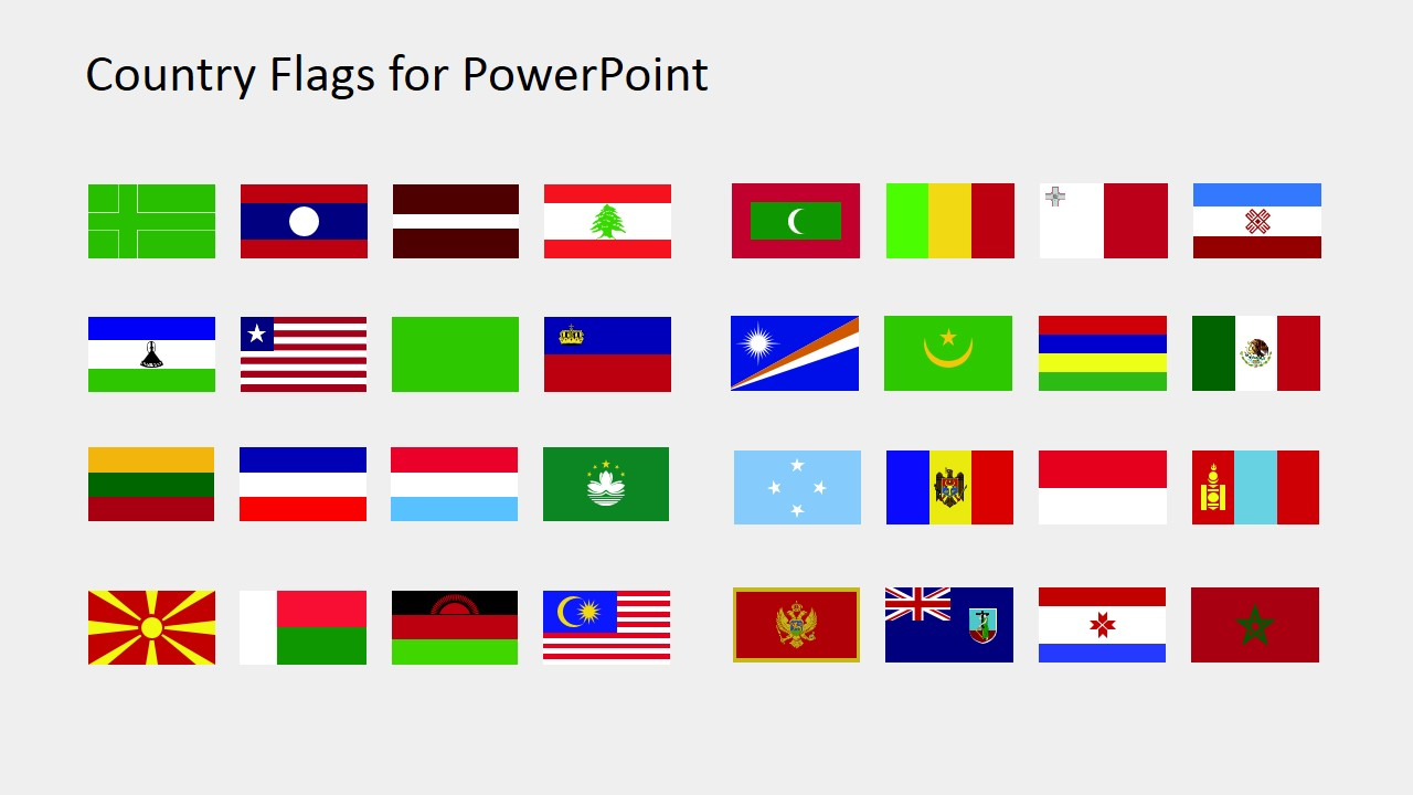 PowerPoint Shapes of World National Flags