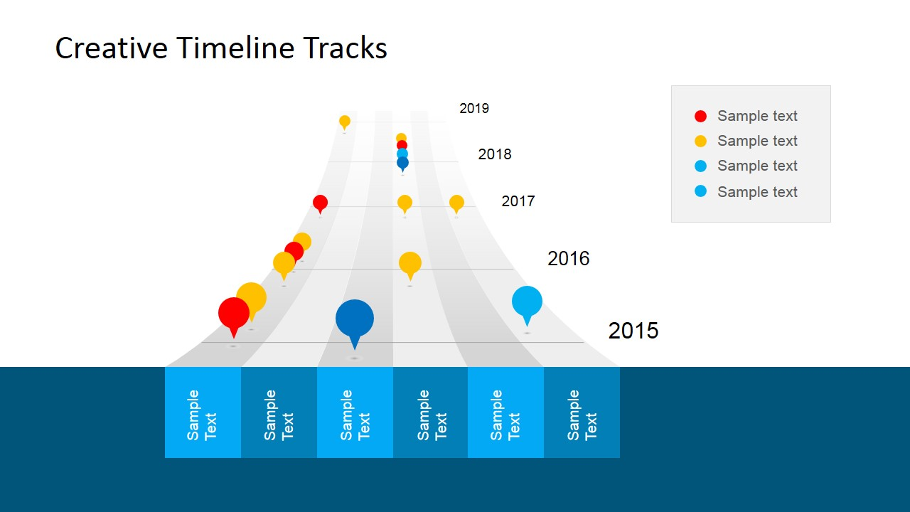 creative timeline tracks powerpoint template