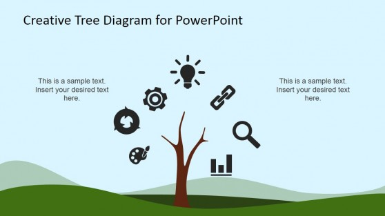 PowerPoint Icons Tree Diagram