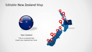 New Zealand Clipart Map for PowerPoint